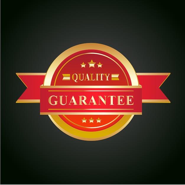 Ilustração em vetor crachá garantida. Vetor Premium