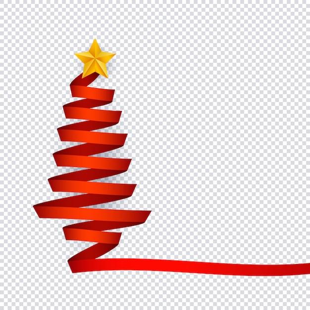 Ilustração Em Vetor De árvore De Natal Feita De Fita