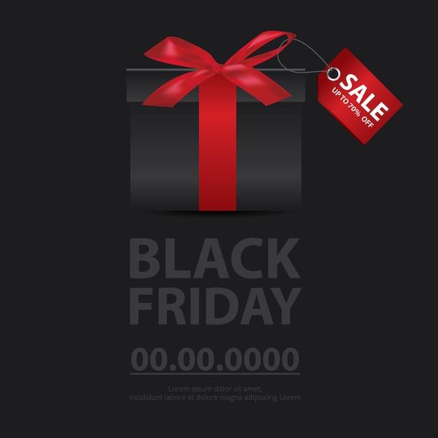 Ilustração em vetor de banner de venda de sexta-feira negra Vetor Premium