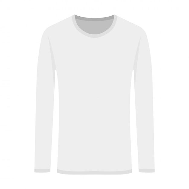 Ilustração em vetor de branco de mangas compridas em estilo simples Vetor Premium