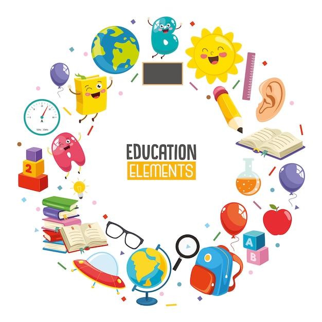 Ilustração em vetor de design de conceito de educação Vetor Premium