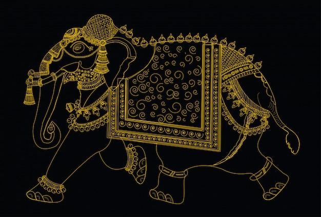 Ilustração em vetor de elefante Vetor Premium