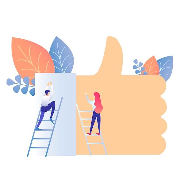 Ilustração em vetor de estilo de vida de mídia social Vetor Premium