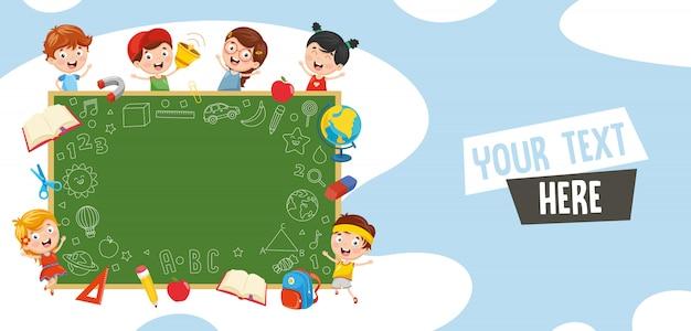 Ilustração em vetor de estudantes Vetor Premium