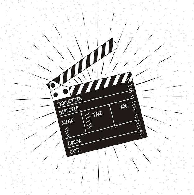 Ilustração em vetor de film set badalo Vetor Premium