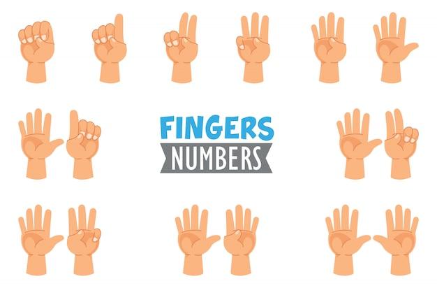 Ilustração em vetor de gestos de mão Vetor Premium