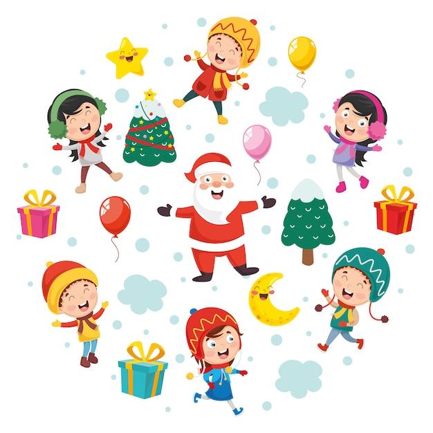 Ilustração em vetor de natal Vetor Premium