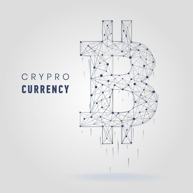 Ilustração em vetor de símbolo de criptomoeda Vetor Premium