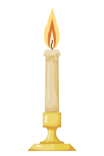 Ilustração em vetor de vela de cera vintage abstrata Vetor Premium
