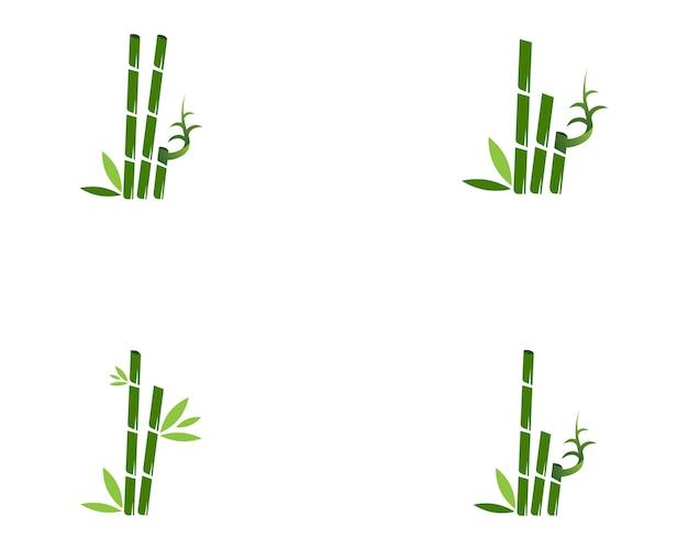 Ilustração em vetor design de logotipo de spa de ícone de bambu Vetor Premium