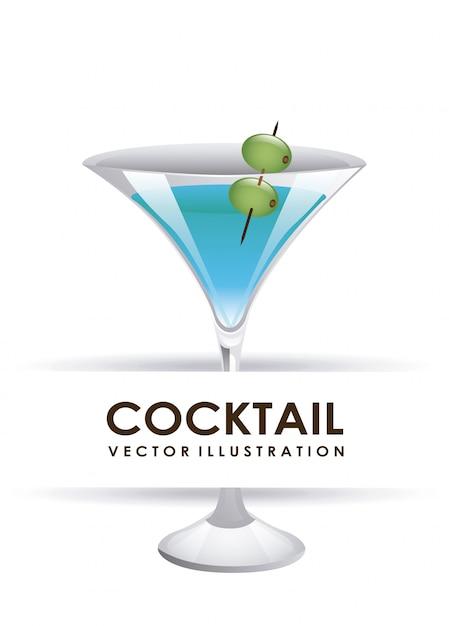 Ilustração em vetor design gráfico cocktail Vetor grátis