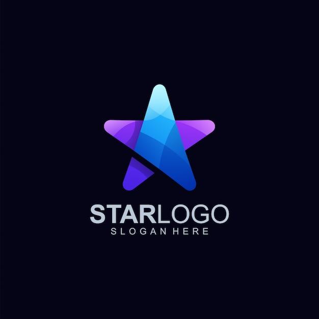 Ilustração em vetor design logotipo estrela Vetor Premium