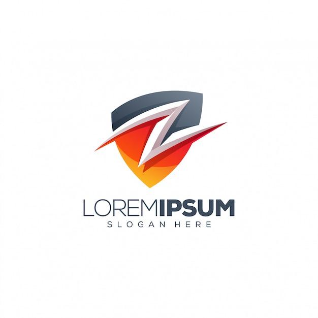 Ilustração em vetor design logotipo folha Vetor Premium
