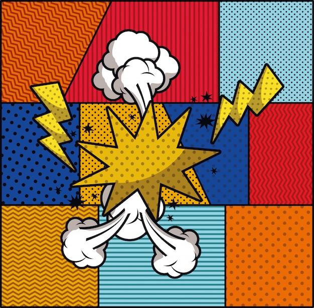 Ilustração em vetor expressão pop art estilo Vetor grátis