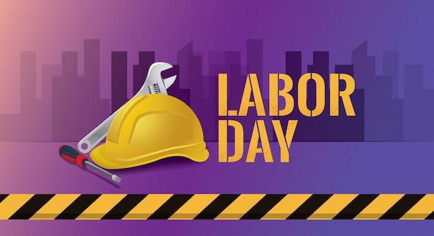 Ilustração em vetor feliz dia do trabalho, 1º pode feriado federal Vetor Premium
