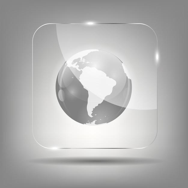 Ilustração em vetor ícone globo Vetor Premium