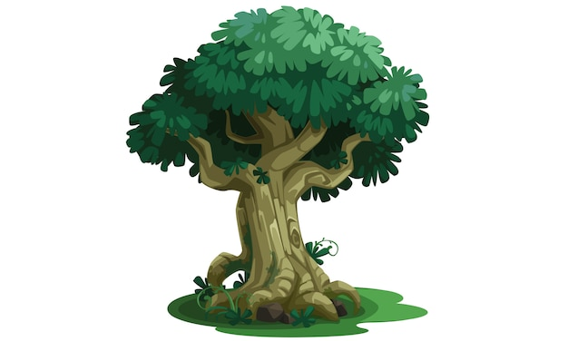 Ilustração em vetor linda árvore Vetor Premium