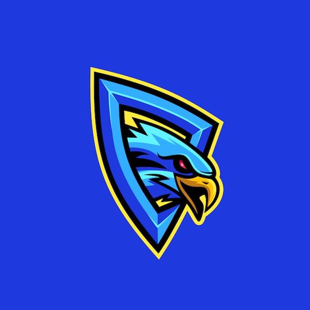 Ilustração em vetor logotipo águia Vetor Premium