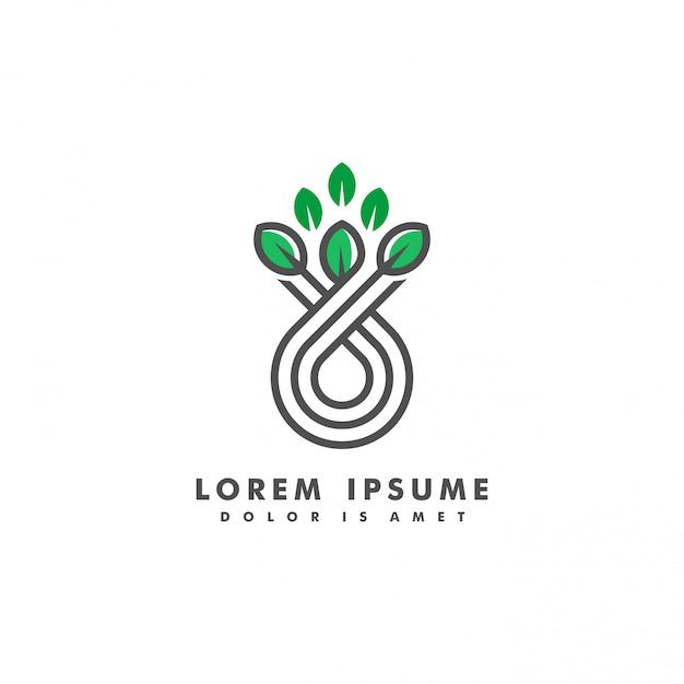Ilustração em vetor logotipo paisagem narture Vetor Premium