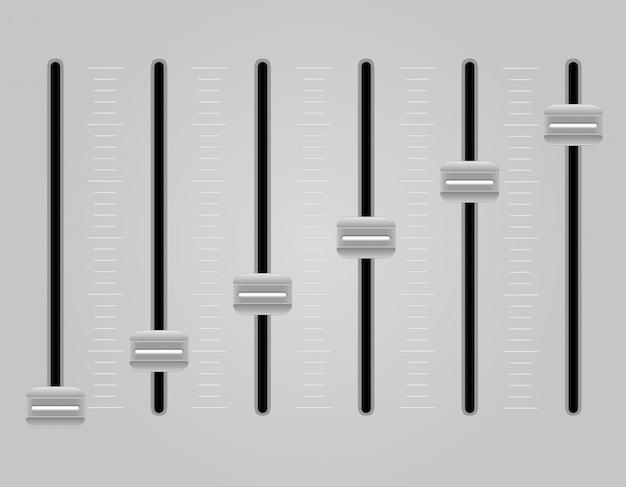 Ilustração em vetor mixer console painel de som Vetor Premium