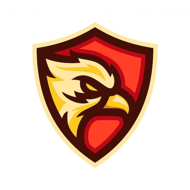 Ilustração em vetor modelo águia cabeça logotipo distintivo Vetor Premium