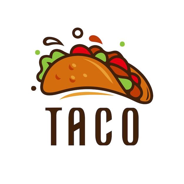 Ilustração em vetor modelo logotipo taco Vetor Premium