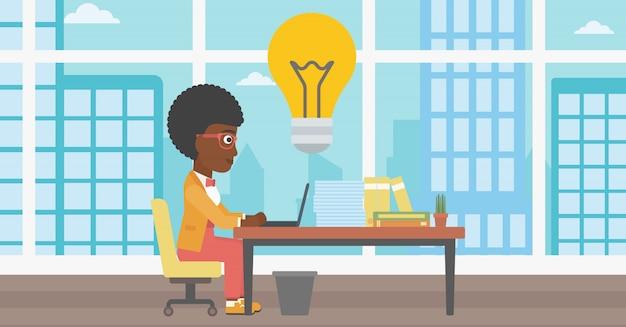 Ilustração em vetor negócios bem sucedida ideia. Vetor Premium