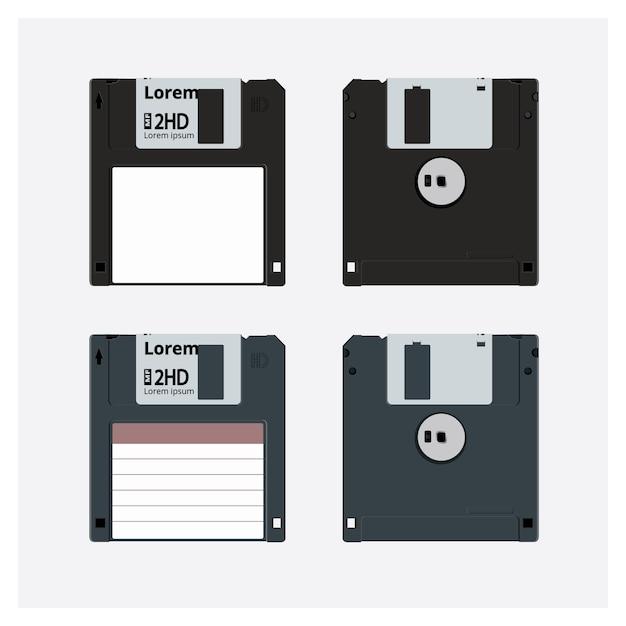 Ilustração em vetor realista de disquete Vetor Premium
