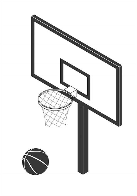 Ilustração em vetor tabela basquete Vetor Premium