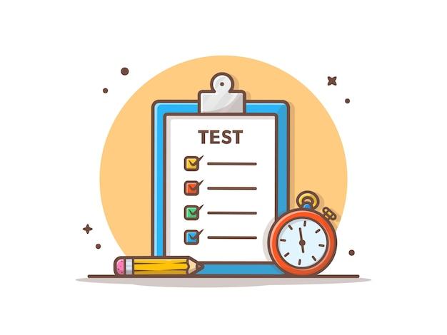 Ilustração em vetor teste trabalho e exame Vetor Premium