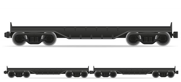 Ilustração em vetor trem transporte ferroviário Vetor Premium