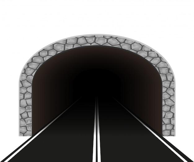 Ilustração em vetor túnel automóvel Vetor Premium