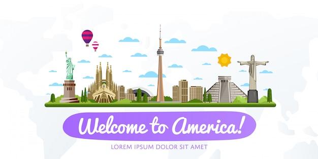 Ilustração em vetor viagens e turismo. Vetor Premium