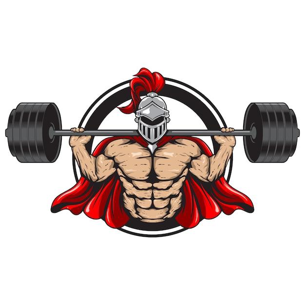 Ilustração espartana de fitness Vetor Premium