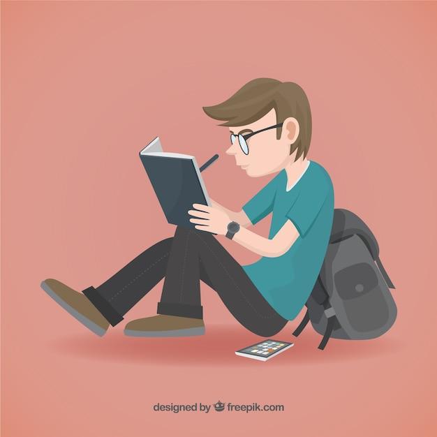 Ilustração estudante Vetor grátis
