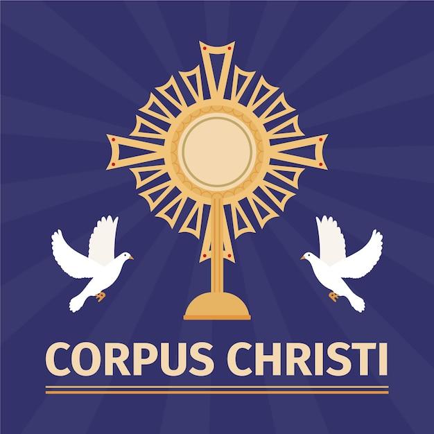Ilustração flat corpus christi Vetor grátis