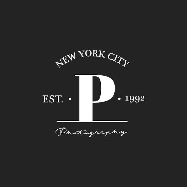 Ilustração, foto, estúdio, selo, bandeira Vetor grátis