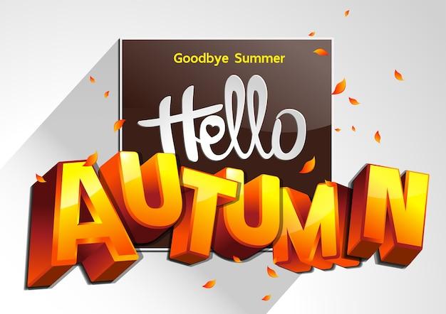 Ilustração good bye summer Vetor Premium