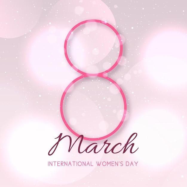 Ilustração gradiente do dia internacional da mulher com data Vetor Premium