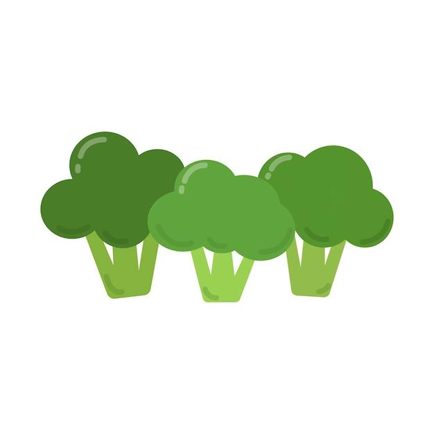 Ilustração gráfica de brócolis verde saudável Vetor grátis