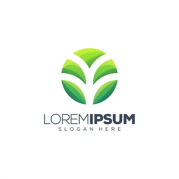 Ilustração impressionante do logotipo da planta Vetor Premium
