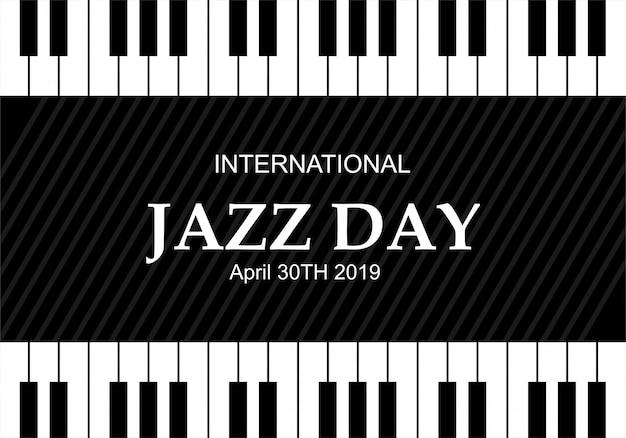 Ilustração internacional do vetor do dia do jazz Vetor Premium