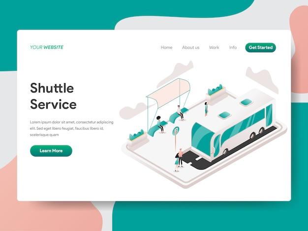 Ilustração isométrica de serviço de transporte. página de destino Vetor Premium