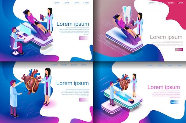 Ilustração isométrica virtual medical research Vetor Premium