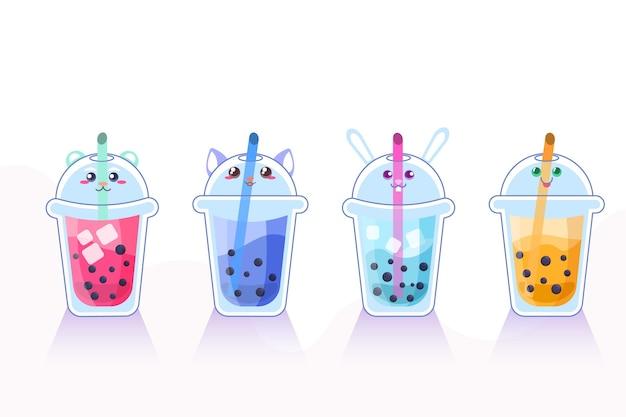 Ilustração kawaii bubble tea Vetor grátis
