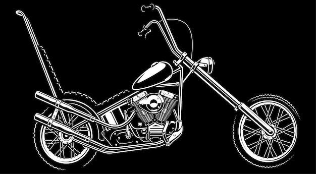 Ilustração monocromática com helicóptero americano clássico. sobre fundo branco. (versão com fundo escuro) o texto está na camada separada. Vetor Premium