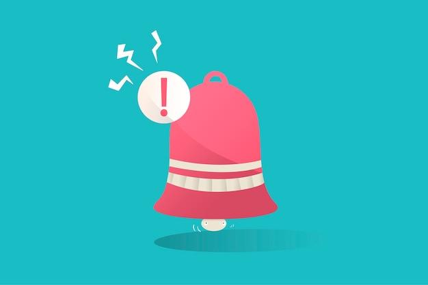 Ilustração, notificação, ícone, azul, fundo Vetor grátis