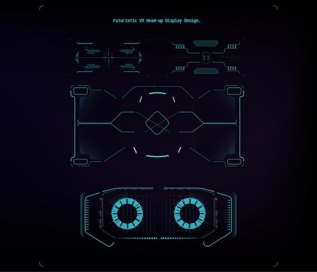 Ilustração para design. conjunto isolado. design de tela de interface futurista hud. ilustração de negócios. ilustração isolado. Vetor Premium