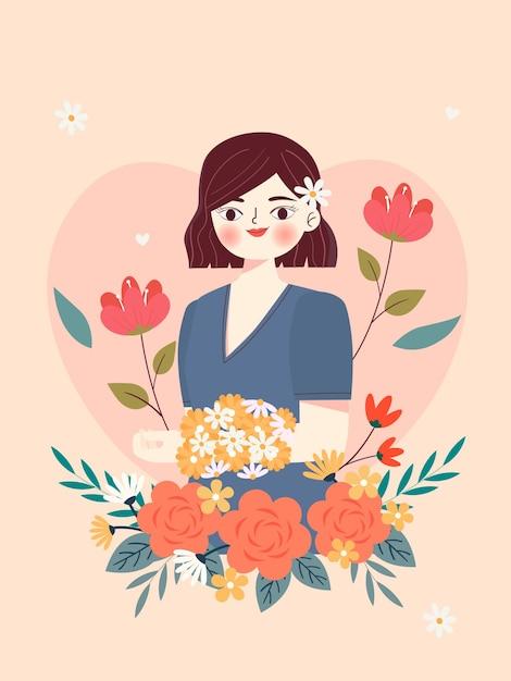 Ilustração para o dia da mulher Vetor Premium