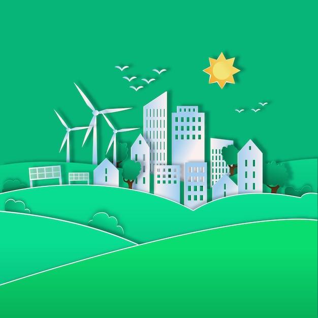 Ilustração para o dia mundial do habitat Vetor grátis